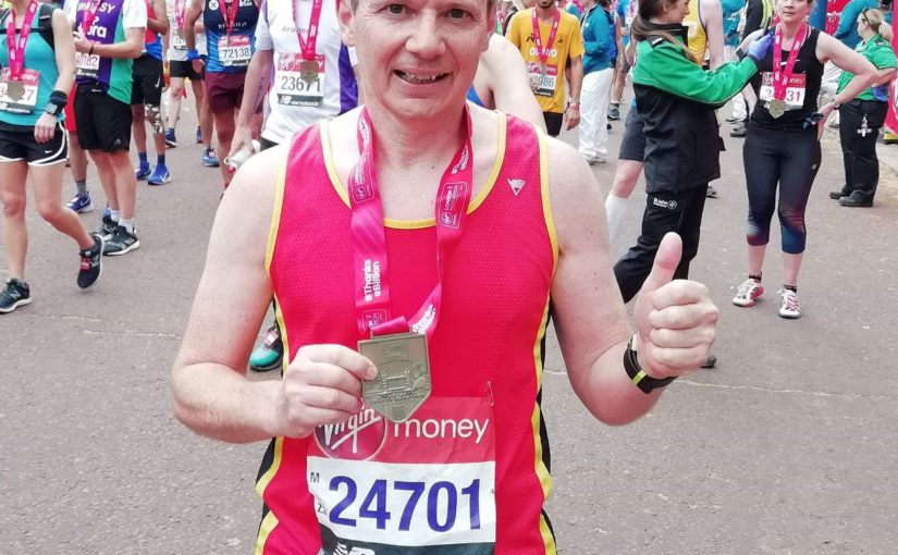 Alan Carley at 2019 London Marathon