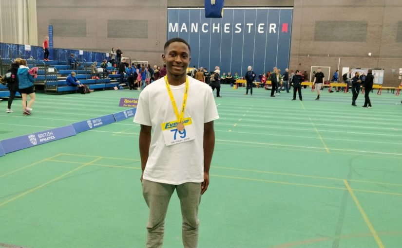 Jonathan Esiwe at Sportshall Finals